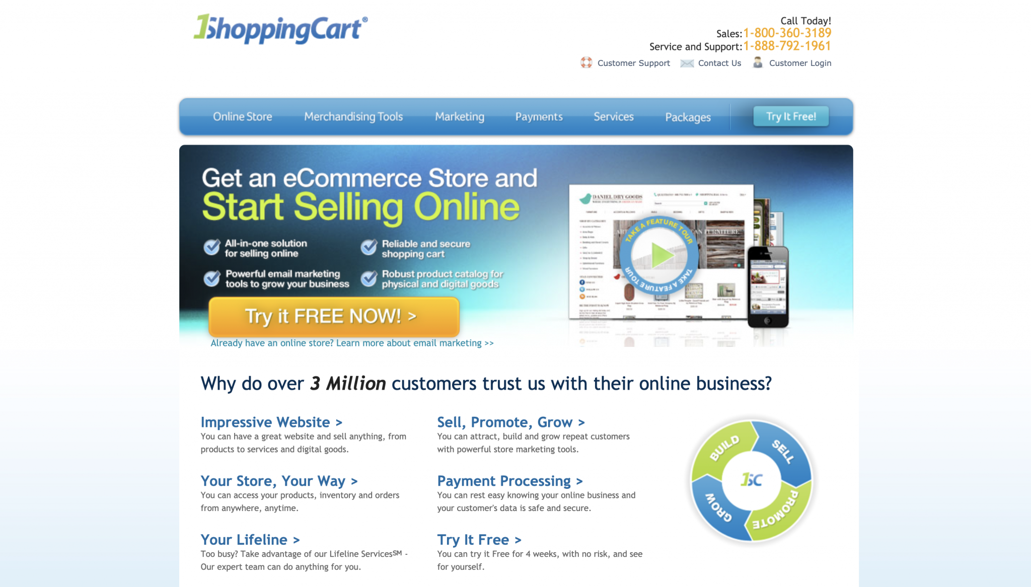 1ShoppingCart Homepage