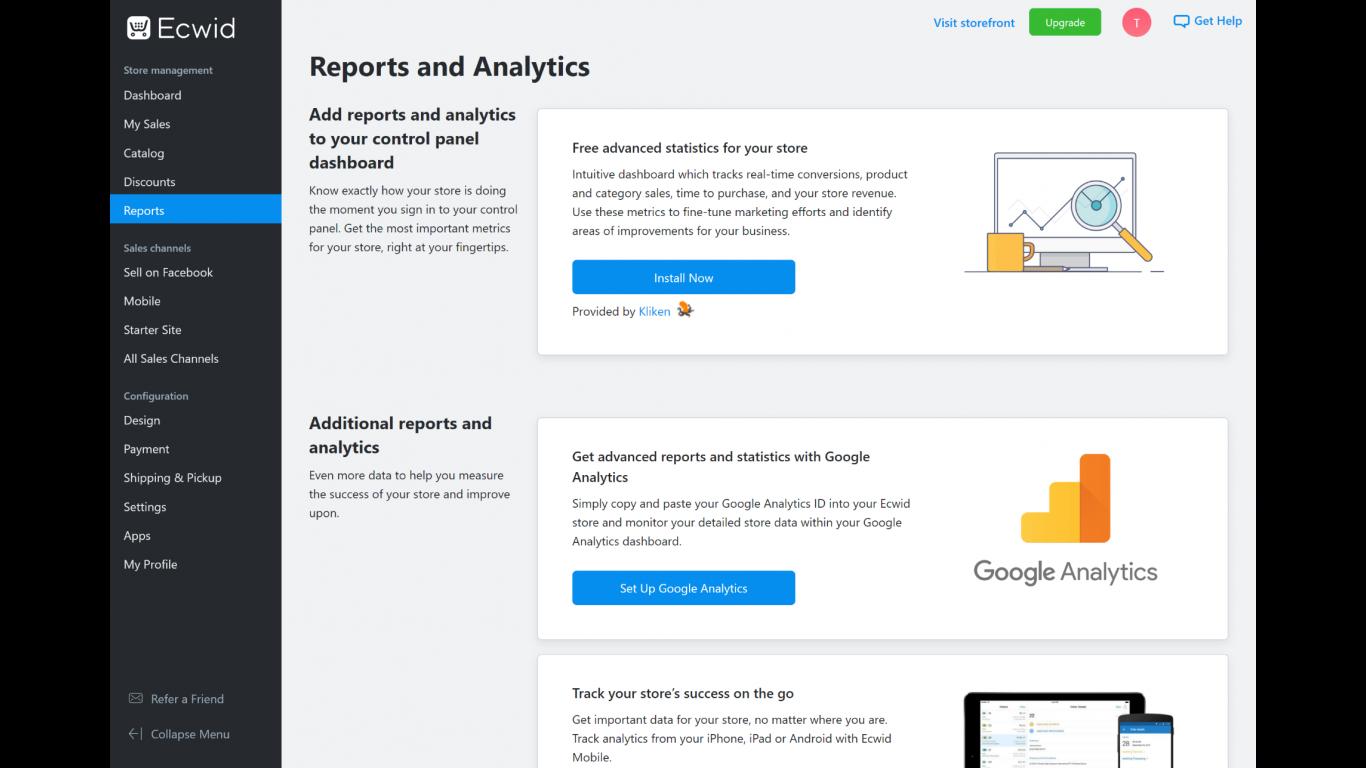 Ecwid Reports
