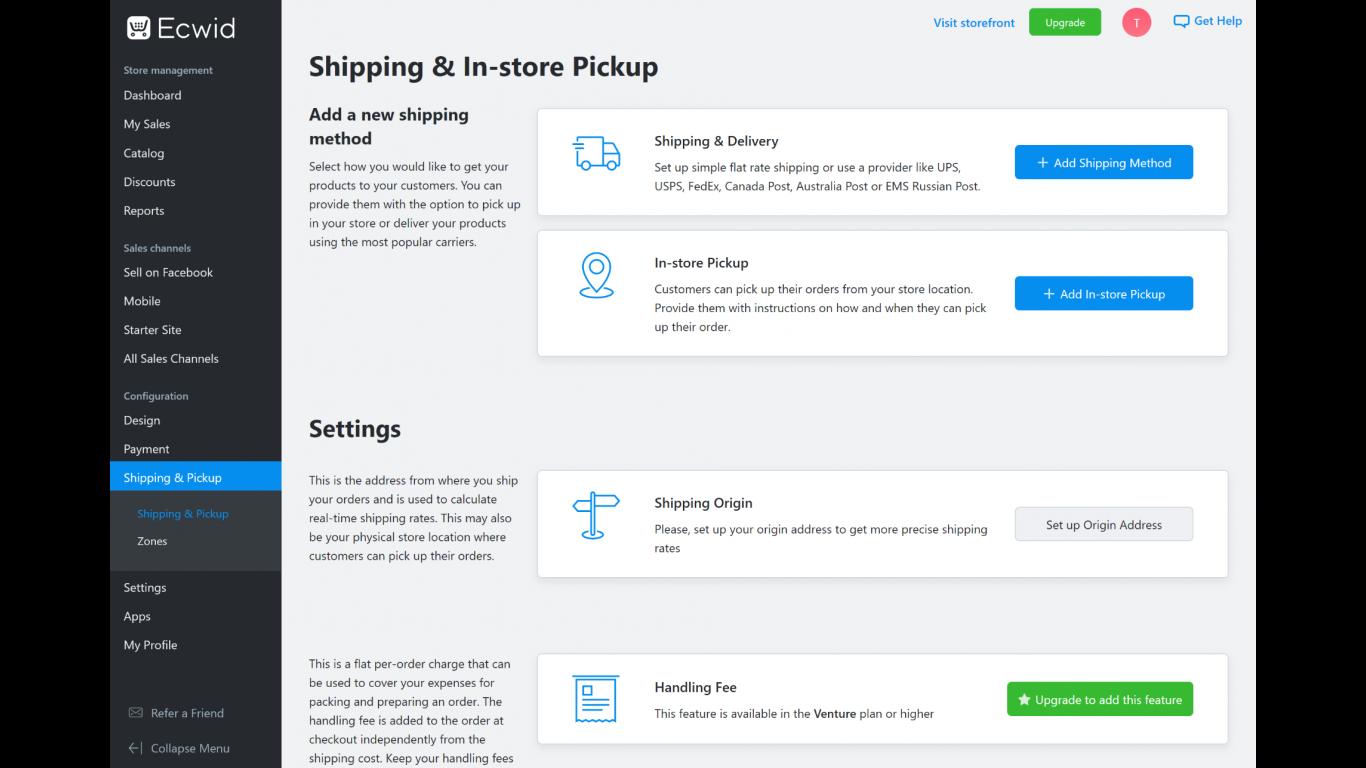 Ecwid Shipping