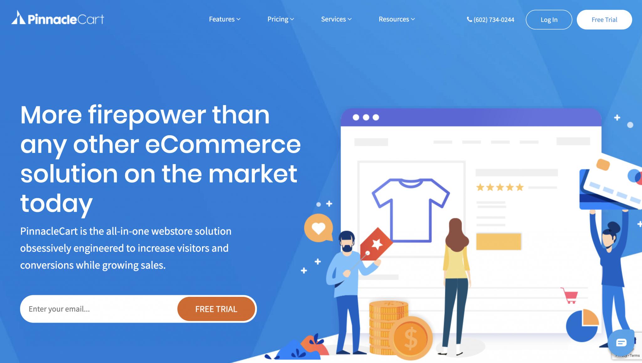 PinnacleCart Homepage