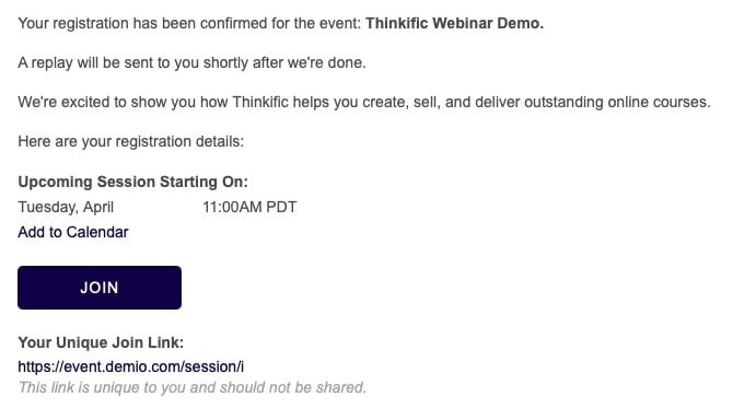 Thinkific Demo Webinar
