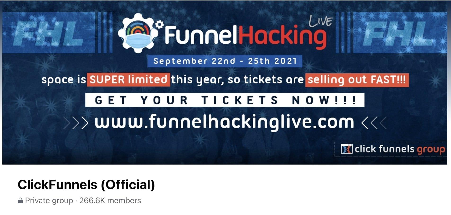 ClickFunnnels Support Facebook Group